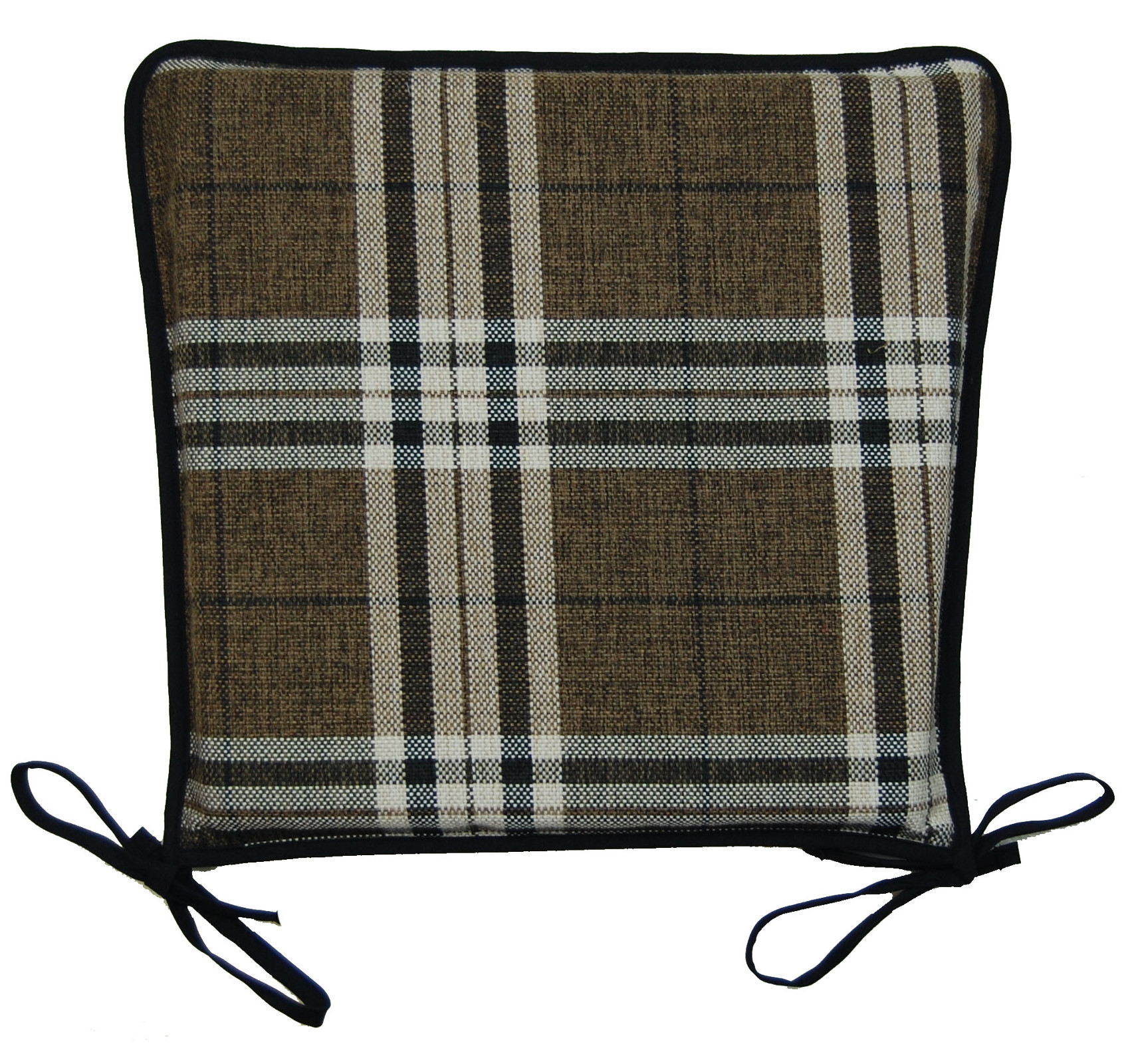 kitchen chair covers swivel assembly seat pad 100 polyester tartan check garden dining