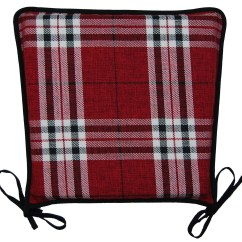 Red Kitchen Chair Pads Intex Ultra Lounge And Ottoman Seat Pad 100 Polyester Tartan Check Garden Dining