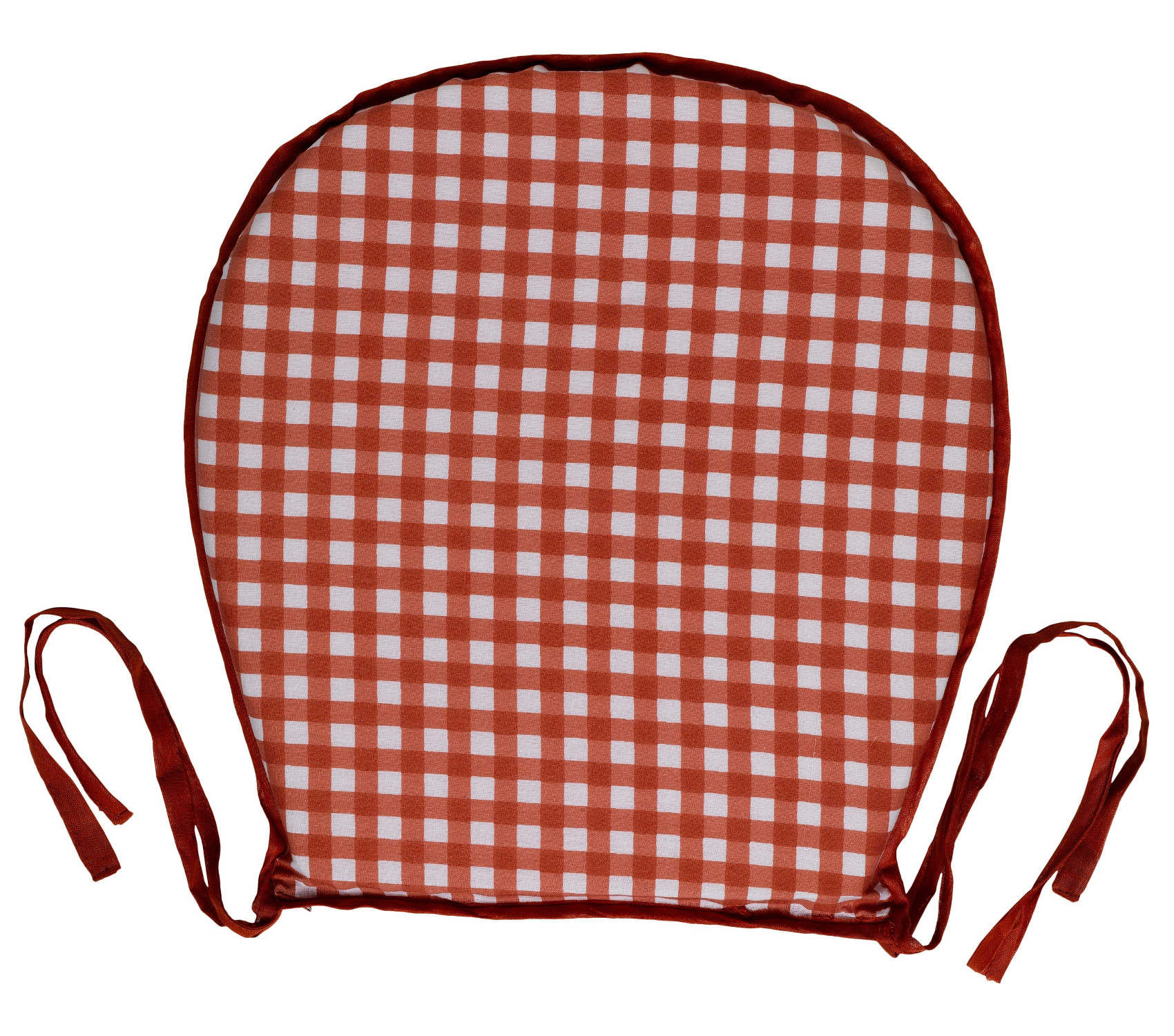 gingham dining room chair covers revolving daraz garden seat pad 100 cotton check kitchen
