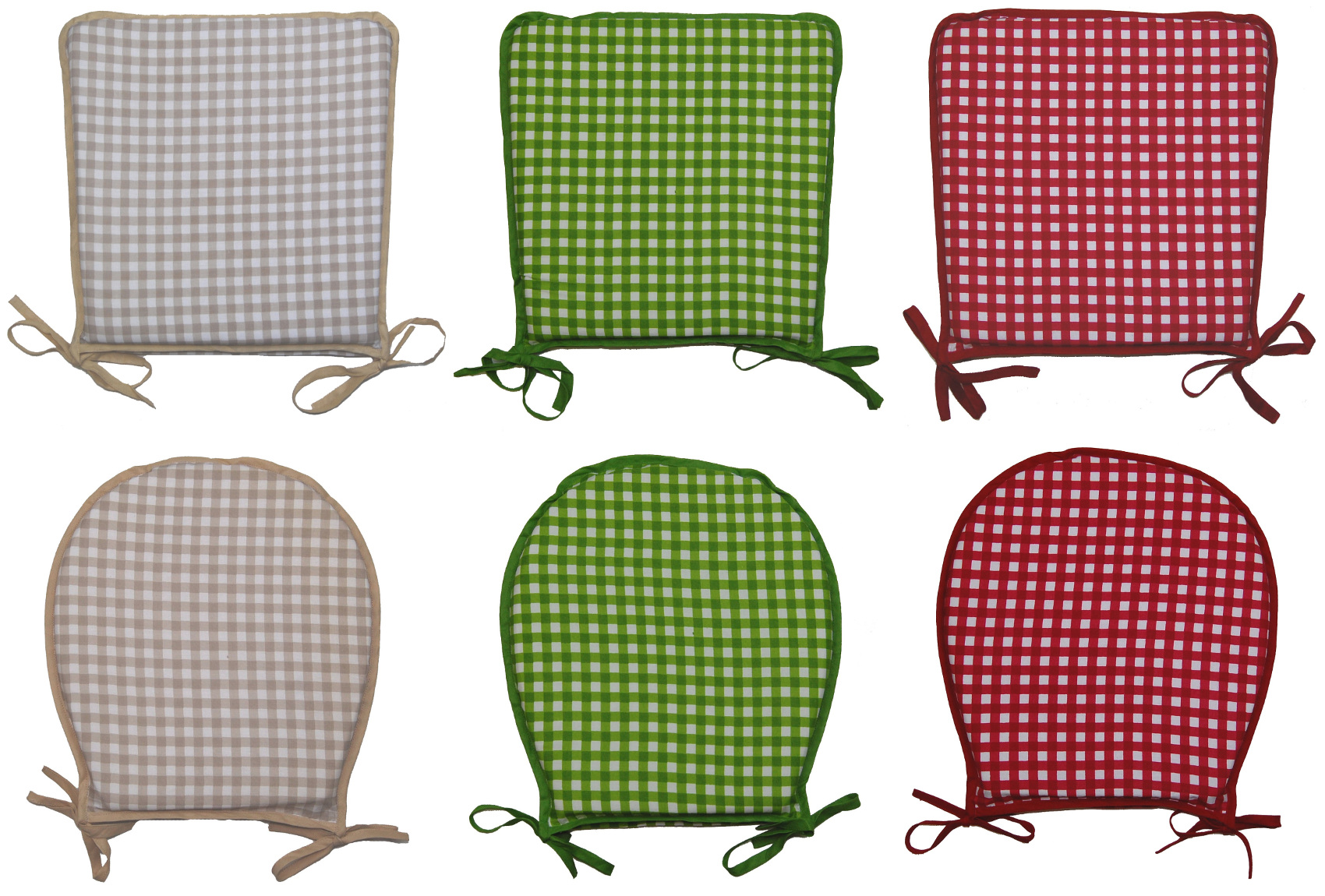 red kitchen chair pads rv captain chairs for sale garden seat pad 100 cotton gingham check dining