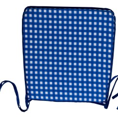 Gingham Dining Room Chair Covers Recliner Chairs For Elderly Garden Seat Pad 100 Cotton Check Kitchen