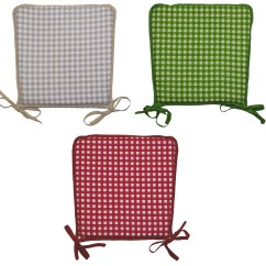 Gingham Dining Room Chair Covers Gray Accent With Ottoman 100 Cotton Check Square Seat Pad