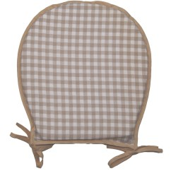 Round Chair Pad Chairs For Hip Pain 100 Cotton Gingham Check Seat Dining Garden