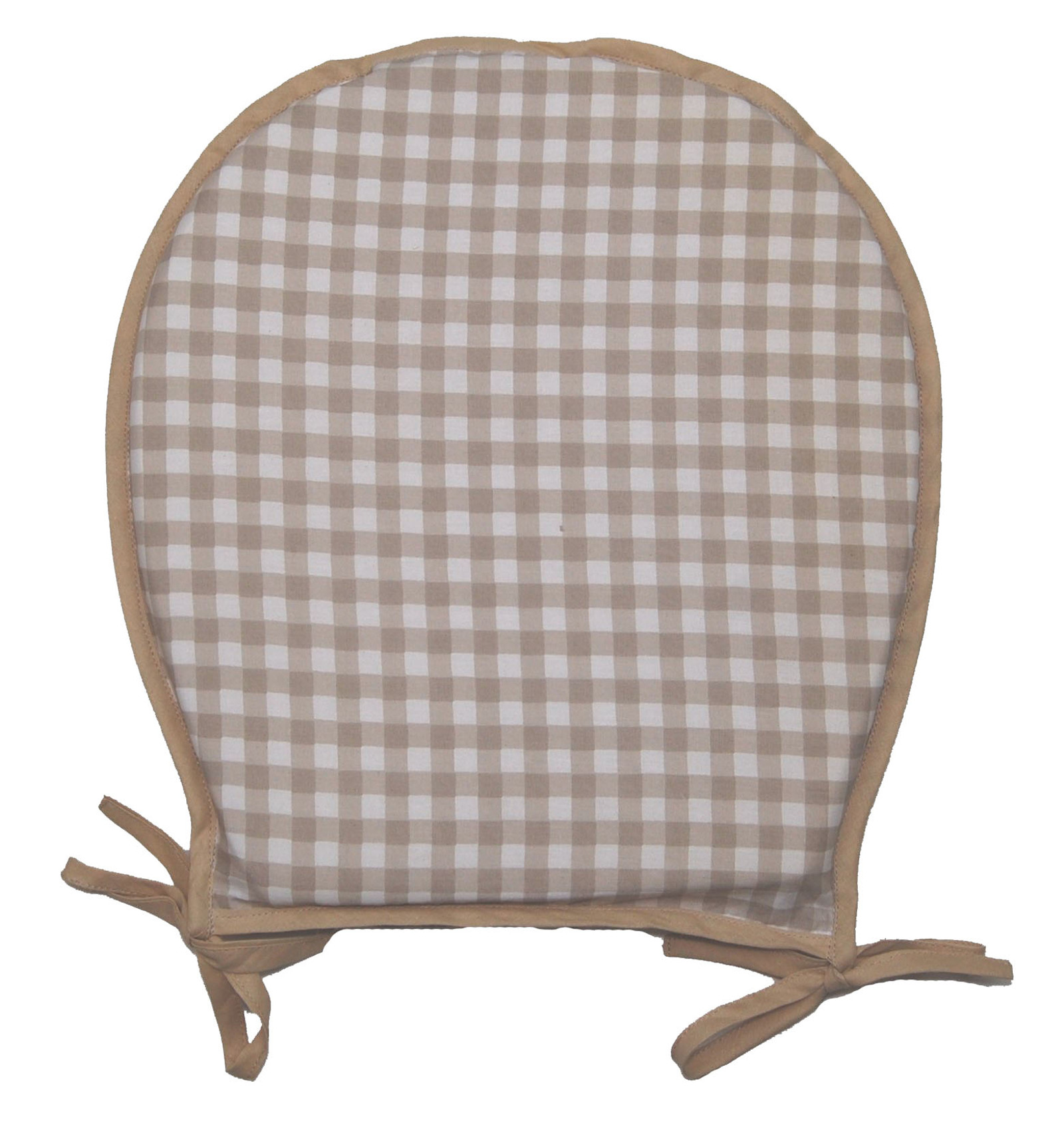 cotton dining chair covers uk sage green cushions 100 gingham check round seat pad garden