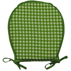 Gingham Dining Room Chair Covers High With Adjustable Footrest 100 Cotton Check Round Seat Pad Garden