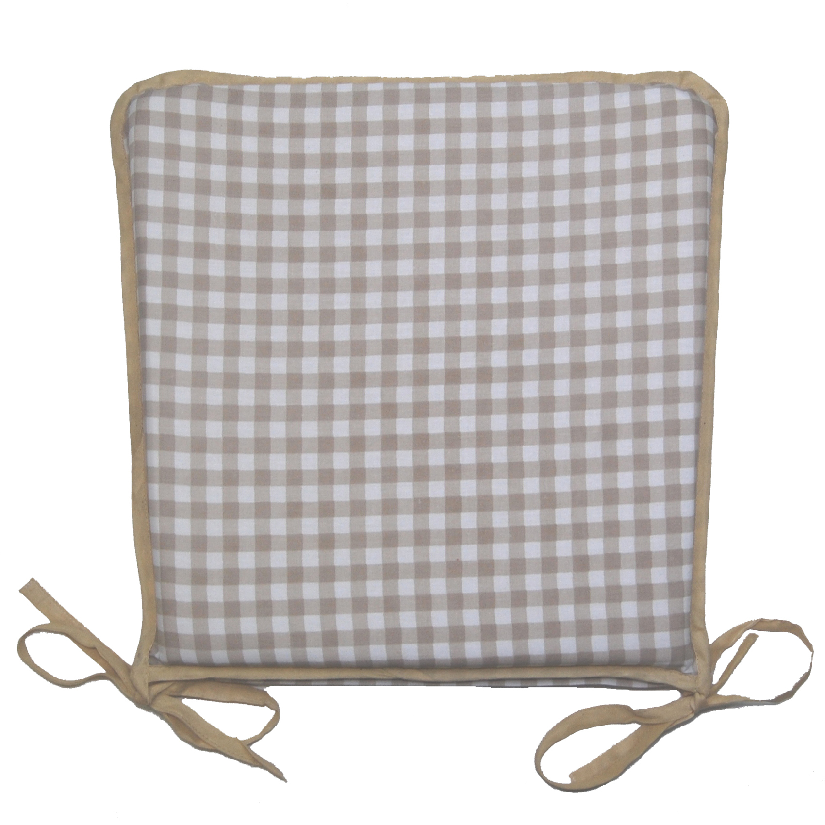 Gingham Chair Garden Seat Pad 100 Cotton Gingham Check Kitchen Dining