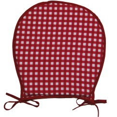 Red Kitchen Chair Pads Circle Comfy Chairs Garden Seat Pad 100 Cotton Gingham Check Dining