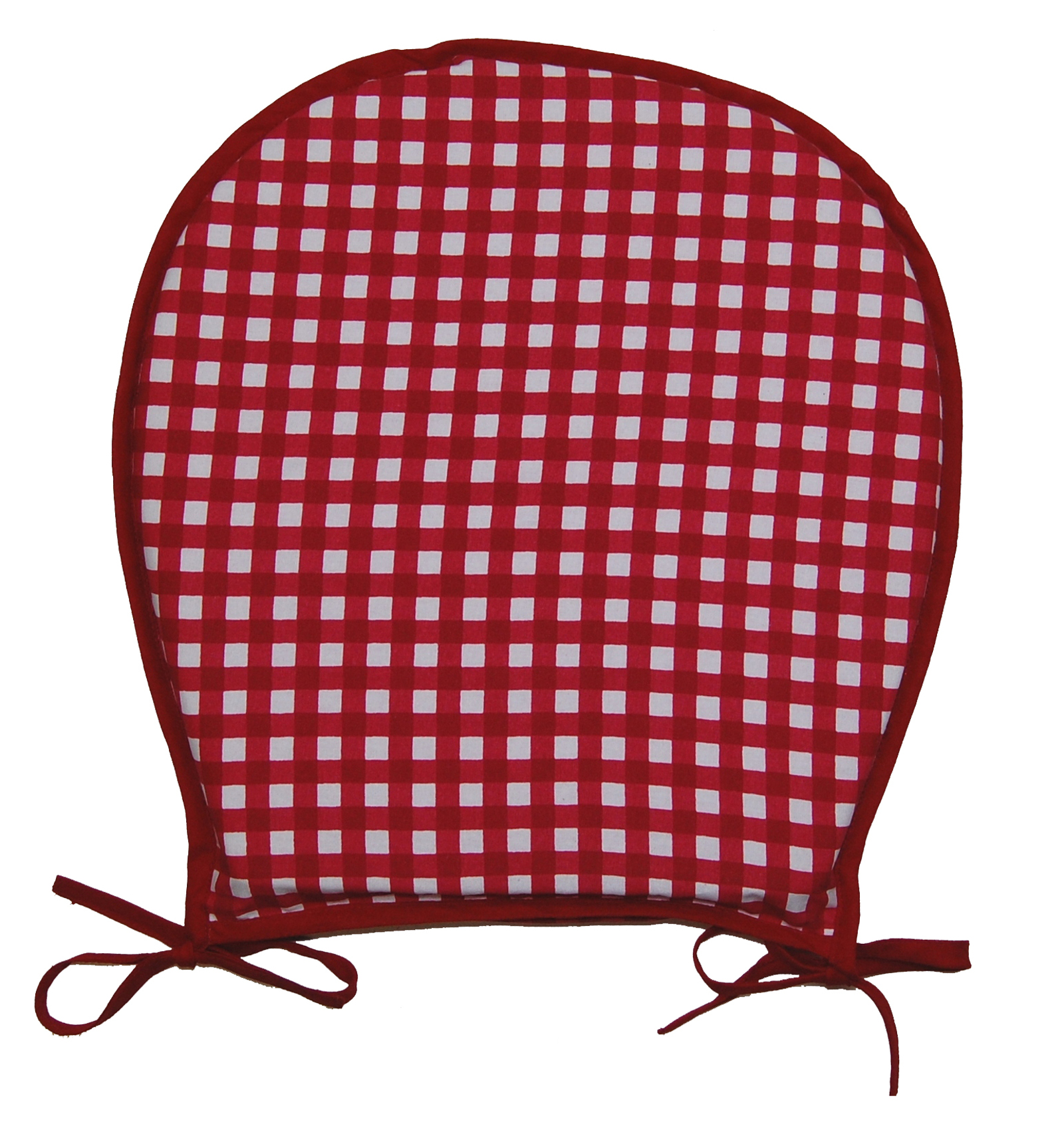 red kitchen chair pads office home garden seat pad 100 cotton gingham check dining