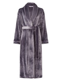 Dressing Gown Super Soft Thick Fleece Ladies Shawl Collar ...
