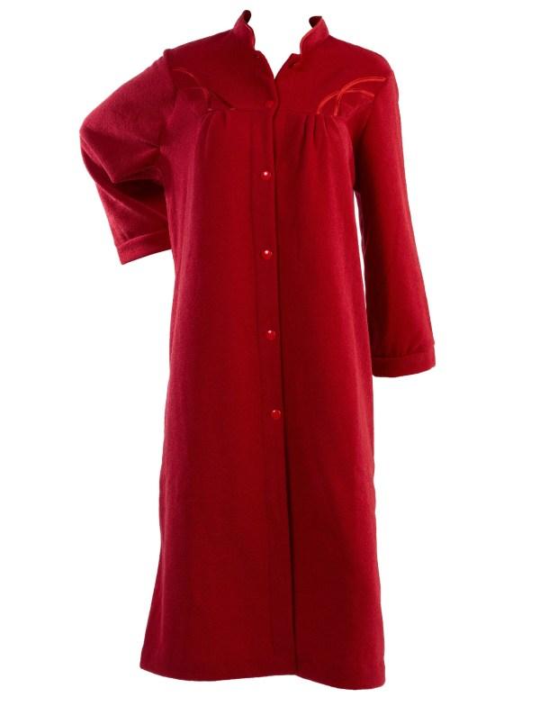 Women's Long Button Up Fleece Robes