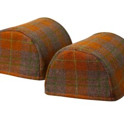 Chair Covers Scotland Gym Stretch Scottish Tweed Standard Round Arm Caps 100 Pure New Wool