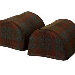Chair Covers Scotland The Chairman Of Board Pair Standard Round Arm Caps Pure New Wool Scottish