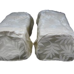 Decorative Chair Covers Grey Yellow Pair Ivory Arm Cap Settee Ebay