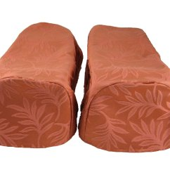 Arm Chair Cap Covers Sling Replacement Fabric Outdoor Furniture Pair Terracotta Settee Decorative Ebay