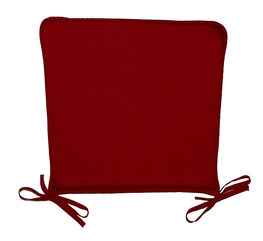 red kitchen chair pads slipcovered parsons chairs dining seat pad cushion burgundy ebay