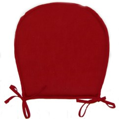 Red Kitchen Chair Pads King Louis Xvi Dining Chairs Seat Plain Round Garden Furniture