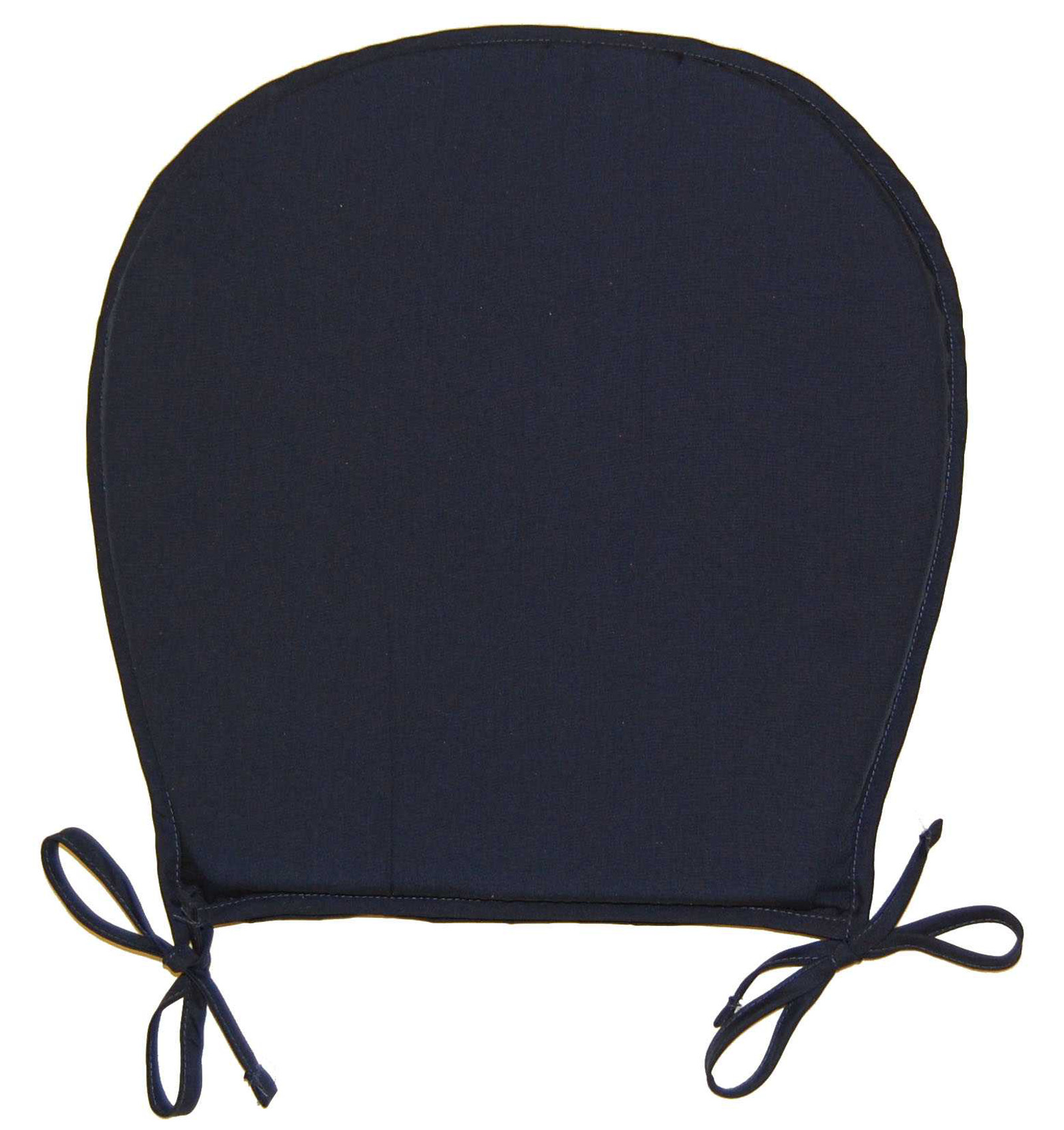 navy blue patio chair cushions black rocking chairs cracker barrel round kitchen seat pad garden furniture dining room