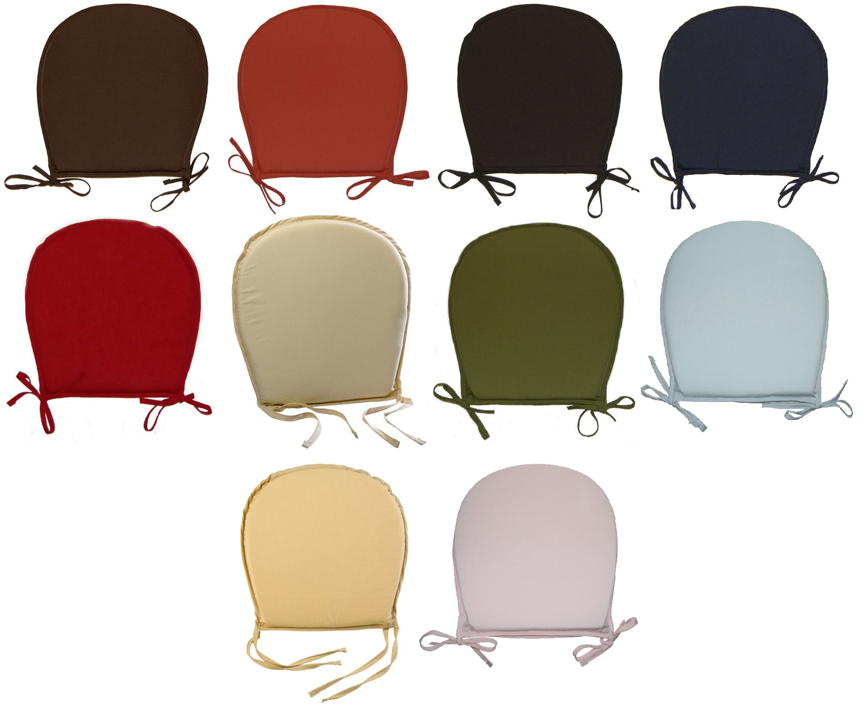 round chair cushions 14 inch swing with stand kuwait kitchen seat pad garden furniture dining room
