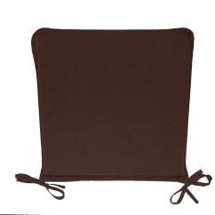 Chair Cushions Tie On V Rocker Gaming Australia Dining Seat Pads Plain Kitchen Garden Furniture