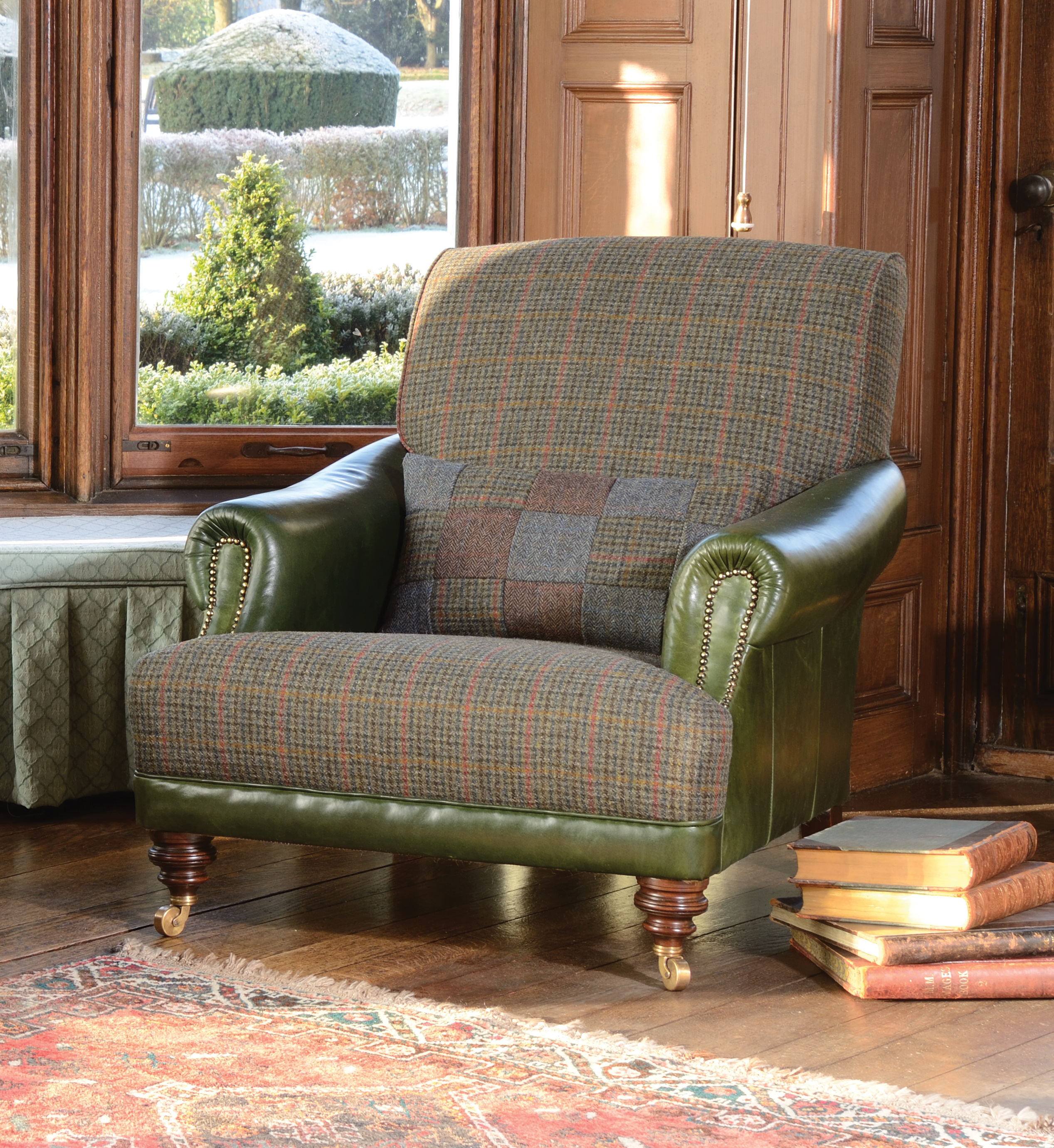 Tweed Chair Taransay Traditional Harris Tweed Handmade Furniture