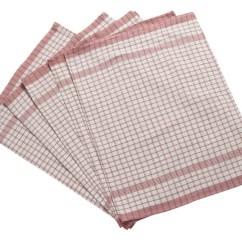 Kitchen Tea Towels Mandolin Slicer Pack Of Wonderdry Checked Absorbent