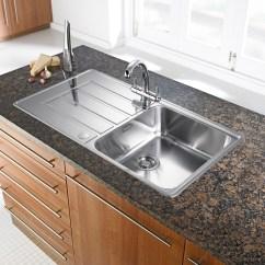 Stainless Kitchen Sink Trends In Flooring Franke Alpina 1 Bowl Silk Steel