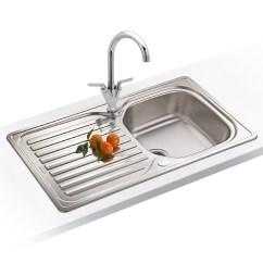 Stainless Kitchen Sink Linoleum Flooring Franke Elba 1 Bowl Polished Steel