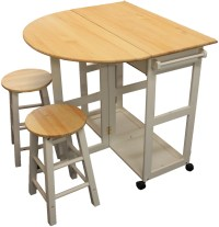 MARIBELLE FOLDING TABLE AND STOOL SET KITCHEN BREAKFAST ...