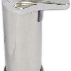 Kitchen Liquid Dispenser Sink Faucet Chrome Hands Free Automatic Bathroom Soap