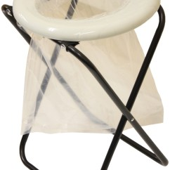 Portable Toilet Chair Swivel Meaning Andes Folding Camping Outdoor With 10 Bags