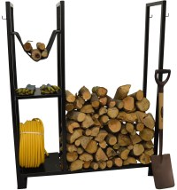 HAUSEN OUTDOOR UTILITY WOOD RACK LOG STAND FIREWOOD