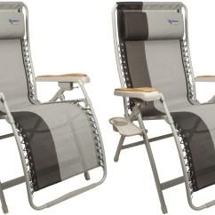 Fishing Chair With Headrest Office Depot Mat Hardwood Floor 2 X Kampa Extravagance Xl Reclining Portable Folding