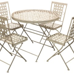 Foldable Table And Chairs Garden Slim Recliner Uk Woodside Folding Metal Outdoor Patio Dining
