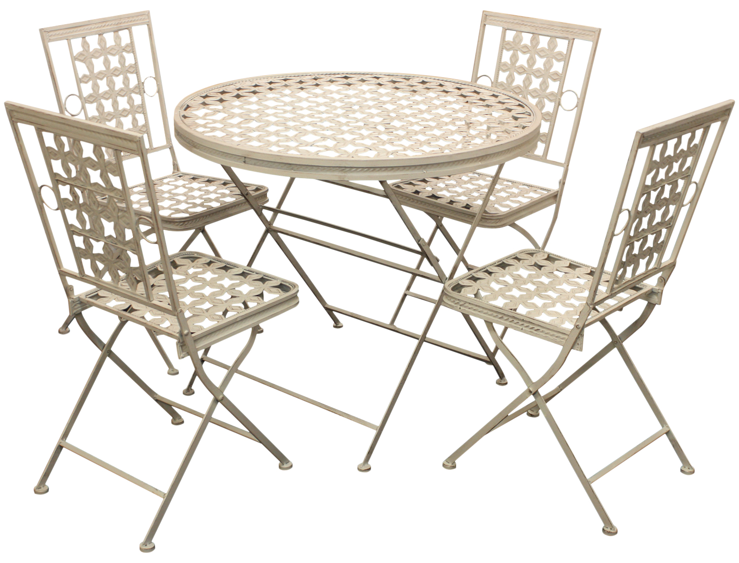 dining table with metal chairs hair stylist woodside folding outdoor garden patio