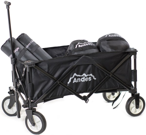Andes Black Collapsible Portable Folding Camping Wagon Cart Festival Trolley 819804018957