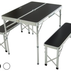 Folding Chair Picnic Table Counter Height Slipcovers Andes Aluminium Portable Camping Outdoor