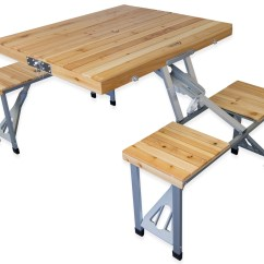 Wood Folding Table And Chairs Strap Patio Chair Andes Wooden Portable Camping Picnic Outdoor