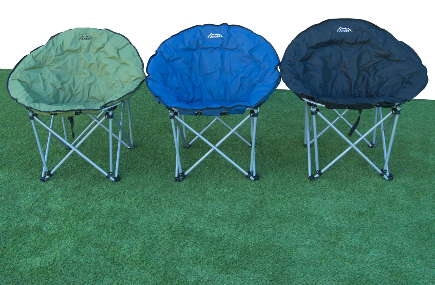 Andes Folding Camping Moon Chair Outdoor Garden Picnic