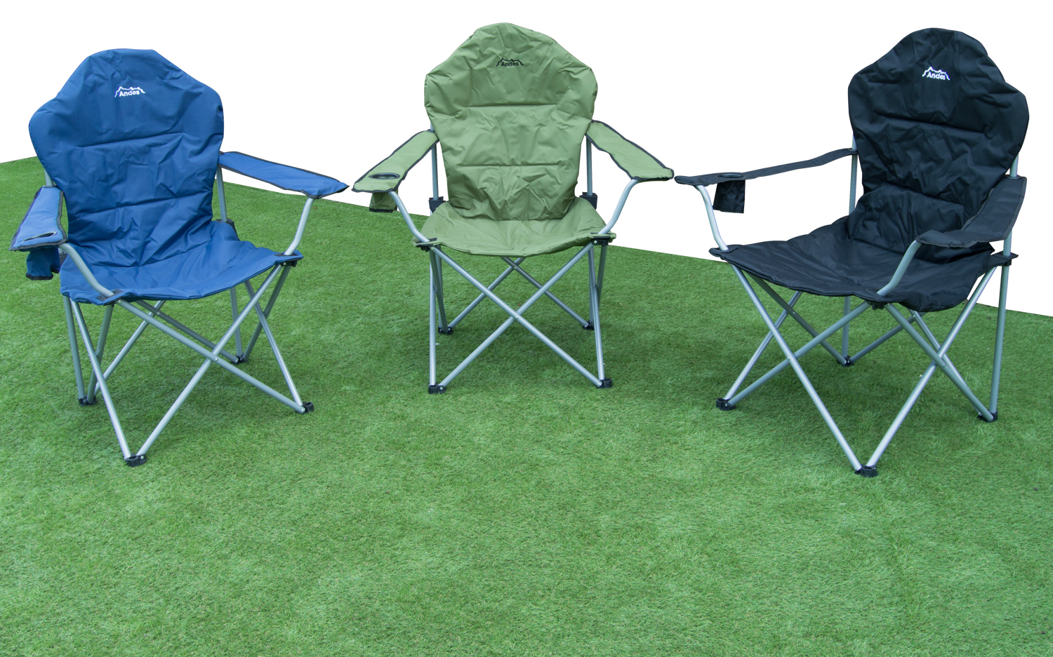 Deluxe Camping Chairs Andes Folding Camping Deluxe Chair Outdoor Garden Picnic