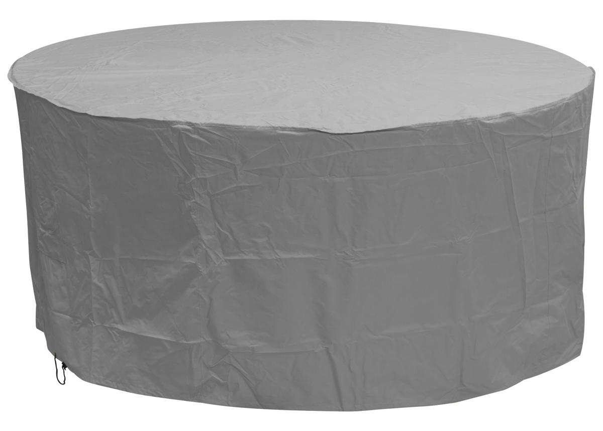 gray patio chair covers folding chairs padded oxbridge large round set cover grey