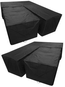 Woodside L Shape Dining Set Cover Covers Outdoor