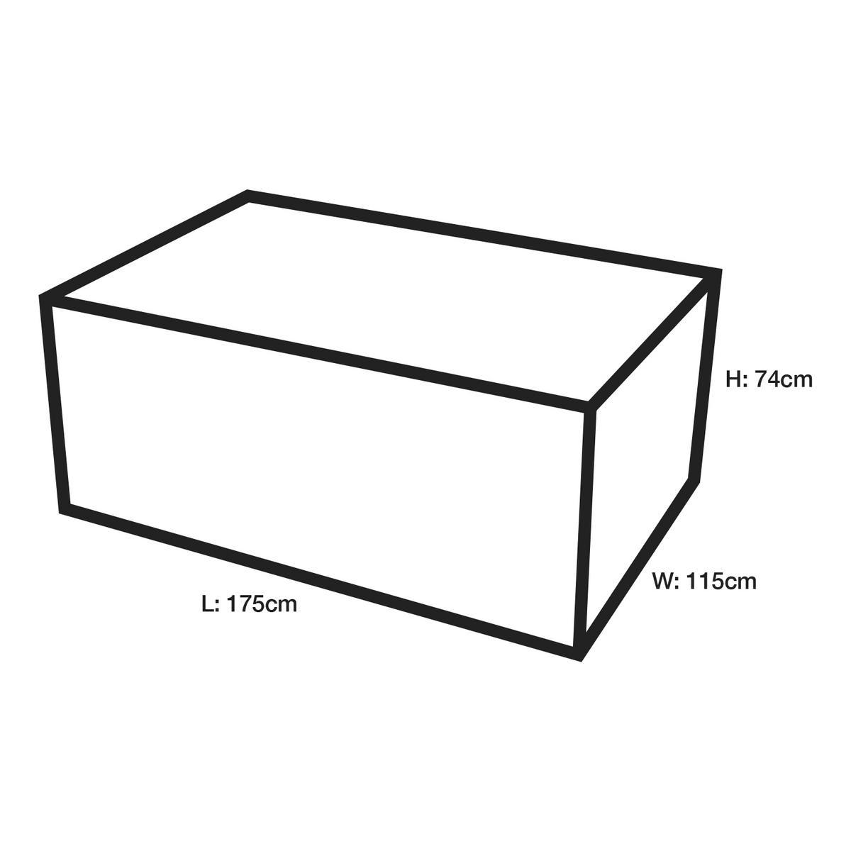 Woodside Black Rattan Furniture Set Cover 115x175x74cm