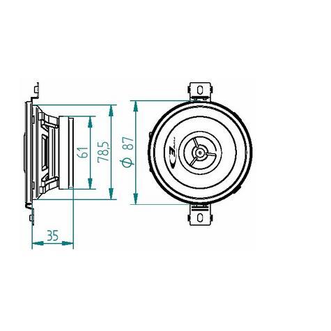 100%Warranty Alpine SXE 0825S 8cm 3.5