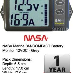 Marine Battery Monitoring System 2003 Chevy Tahoe Radio Wiring Diagram Nasa Bm Compact Monitor 12vdc Grey Sustuu