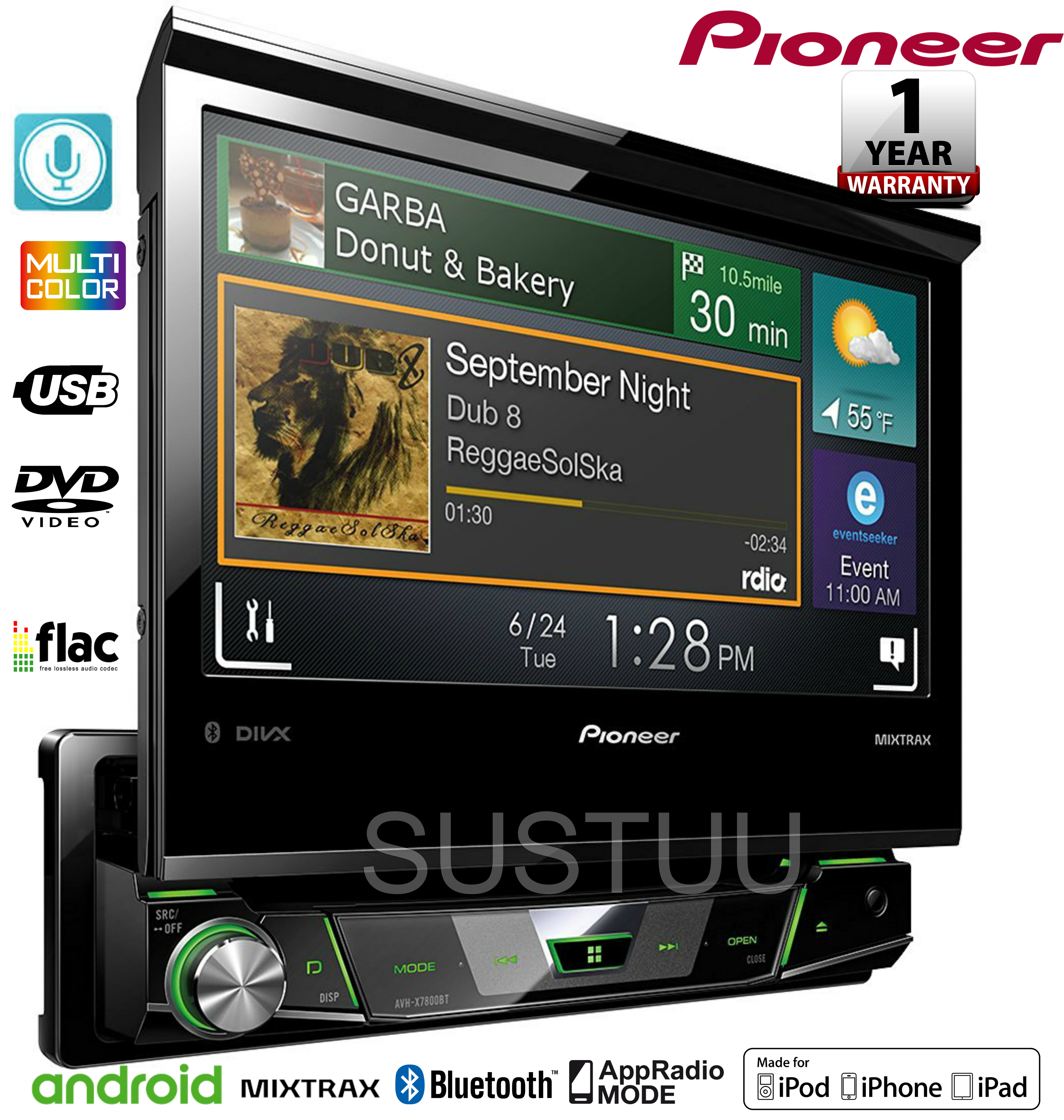 pioneer avh x7800bt be nungsanleitung 88 toyota 22re engine diagram 1 din 7 quot flip out display dvd