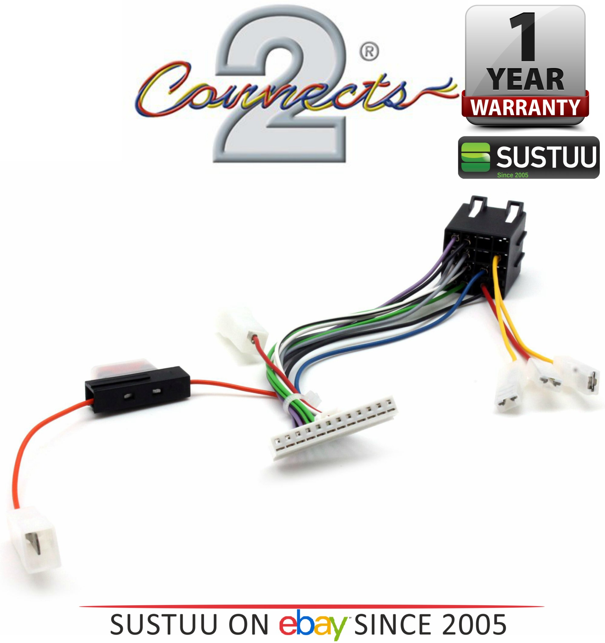 hight resolution of c2 21pn01 car stereo wiring harness adapters fits pioneer 12 pin iso 1yrwarranty thumbnail 2