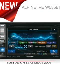 alpine ive w585bt 6 1 touch radio cd dvd divx mp3 double din [ 4000 x 3920 Pixel ]
