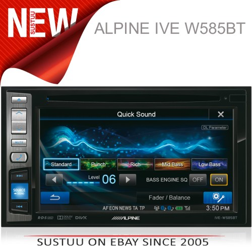 small resolution of alpine ive w585bt 6 1 touch radio cd dvd divx mp3 double din