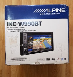 alpine ine w990bt double din 6 1 sat nav radio dvd cd  [ 3024 x 4032 Pixel ]