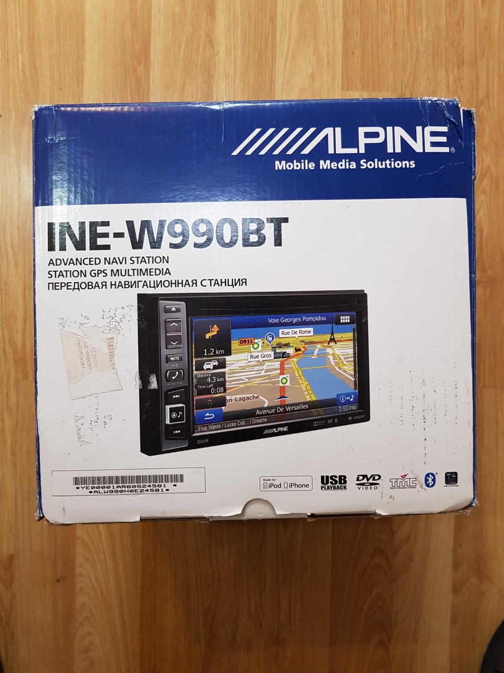 medium resolution of alpine ine w990bt double din 6 1 sat nav radio dvd cd